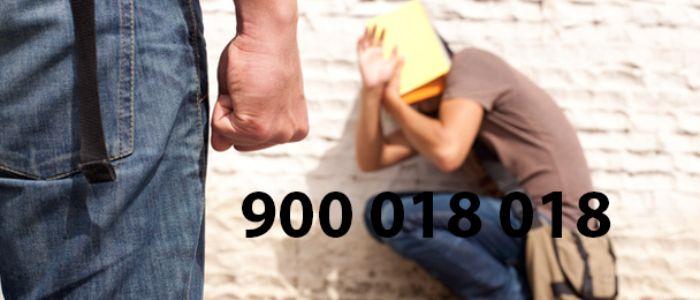 Teléfono contra el acoso escolar de ámbito nacional. 900 018 018
