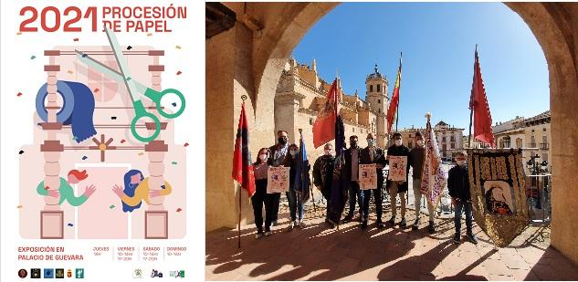 Juventud colabora con la realización de la exposición monográfica de la procesión de papel 2021.