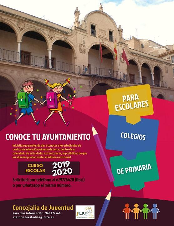 Conoce tu Ayuntamiento. Programa de visitas para alumnos de primaria de Lorca.