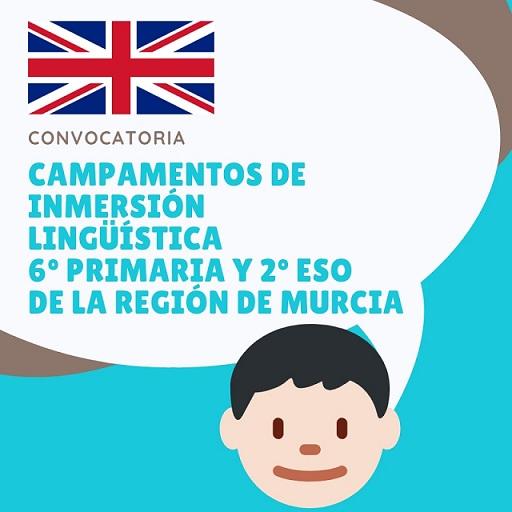 Campamentos de inmersión lingüística 6 de primaria y 2º ESO de la Región de Murcia