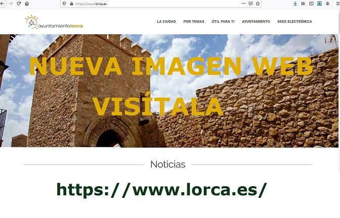 La web municipal del Ayuntamiento de Lorca se renueva.