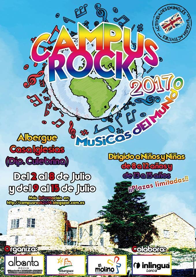 Campamento de verano CampusRock 2017. Albergue Casa Iglesias (Lorca)