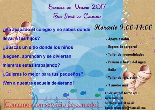 Escuela de Verano 2017. Escuela Infantil San José de Calasanz