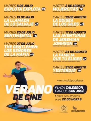 """El """"Cine de Verano"""" continúa mañana con la comedia """"Sentimental"""" en el Parque de San José y la Plaza de Calderón"""