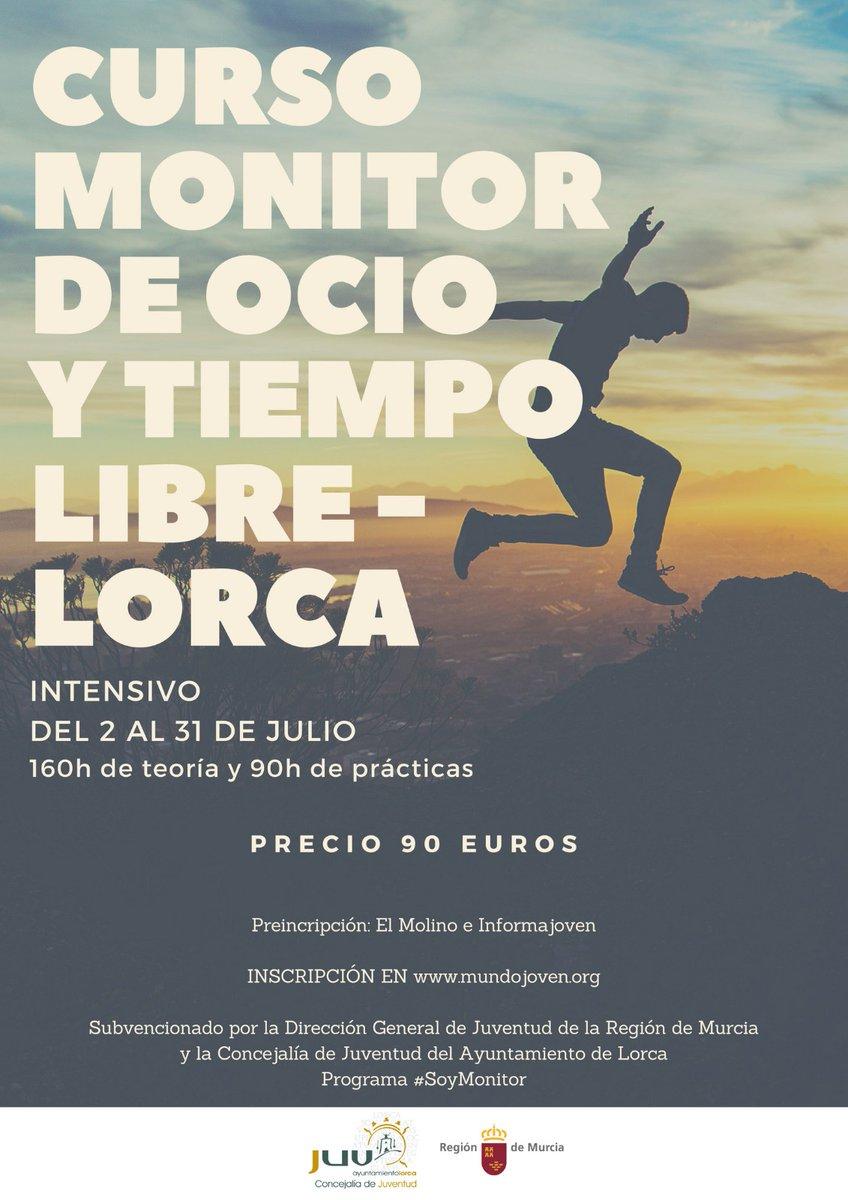 Curso de monitor de ocio y tiempo libre intensivo en Lorca.