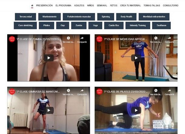 Deportes pone en marcha el proyecto #MuéveteencasaLorca para facilitar la práctica deportiva de los lorquinos