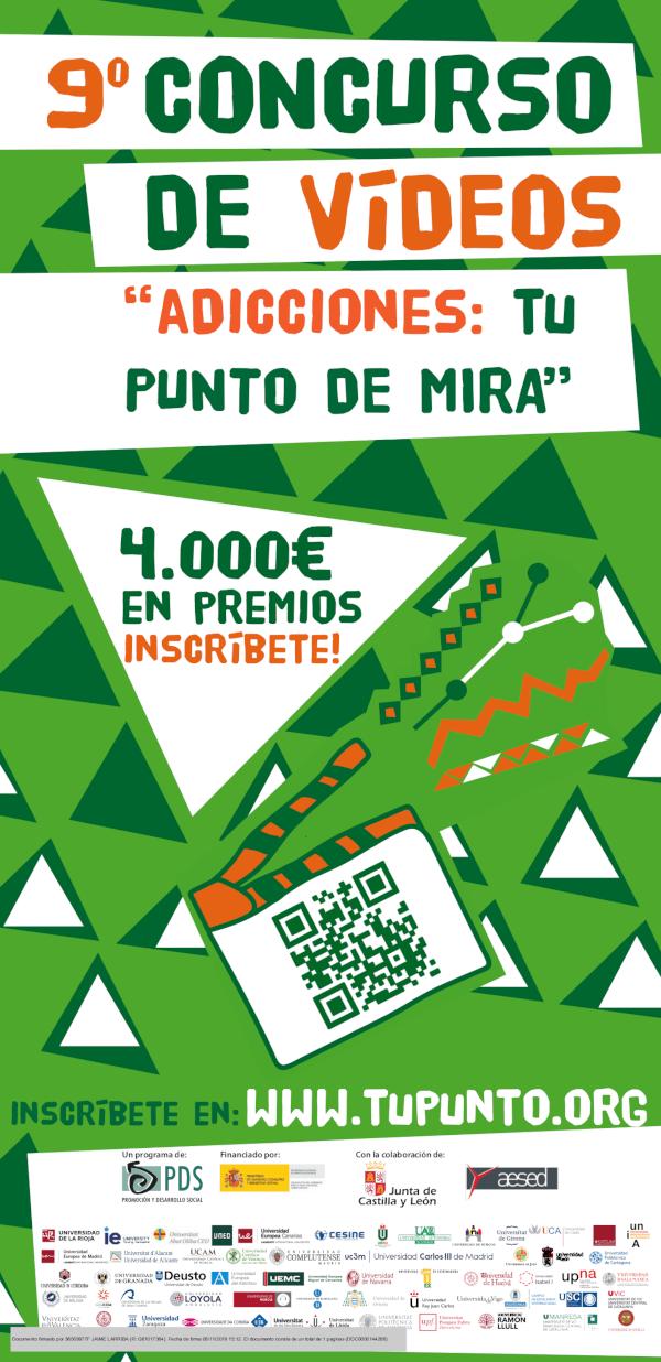 """9º Concurso de vídeos """"Adicciones: Tu Punto de Mira"""""""