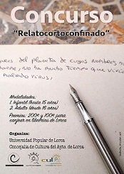 """La Concejalia de Cultura pone en marcha el concurso """"""""RelatoCortoConfinado"""""""""""